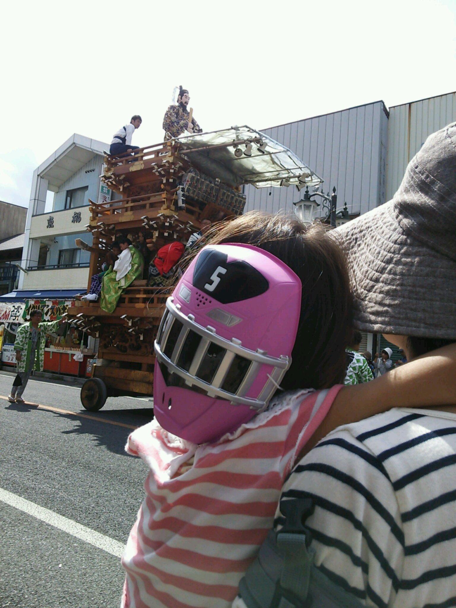 石岡のお祭りとトッキュウジャー
