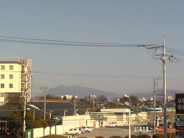 ララガーデンからみた筑波山