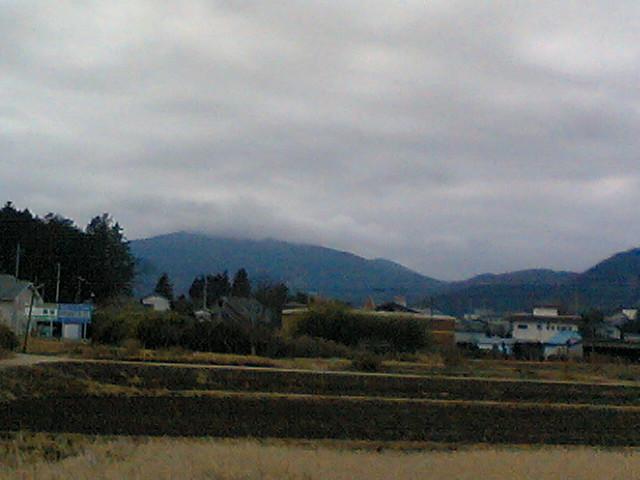 久々に筑波山が見えた